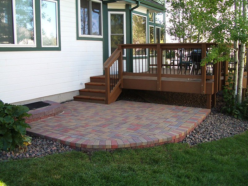 Deck & Patio Combinations - DeckTec Outdoor Designs on Deck And Paver Patio Ideas id=64333
