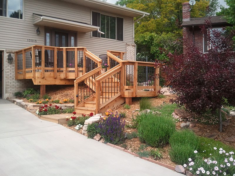 Front Entry Decks Decktec Outdoor Designs