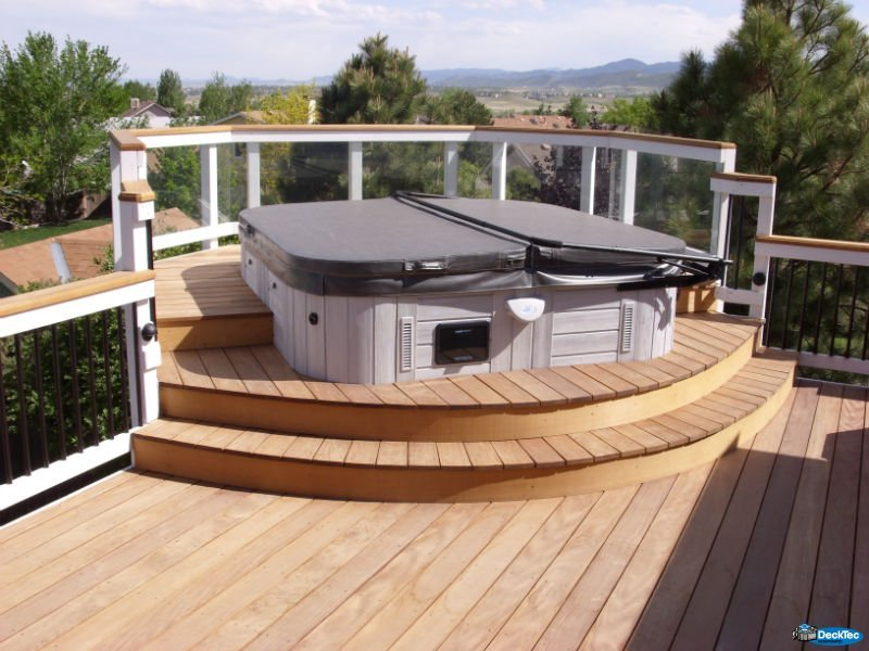 Unique spa decks decktec outdoor designs for Spa deck design