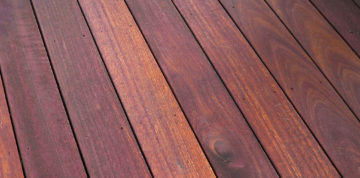 Wood is by far the best material for decks.