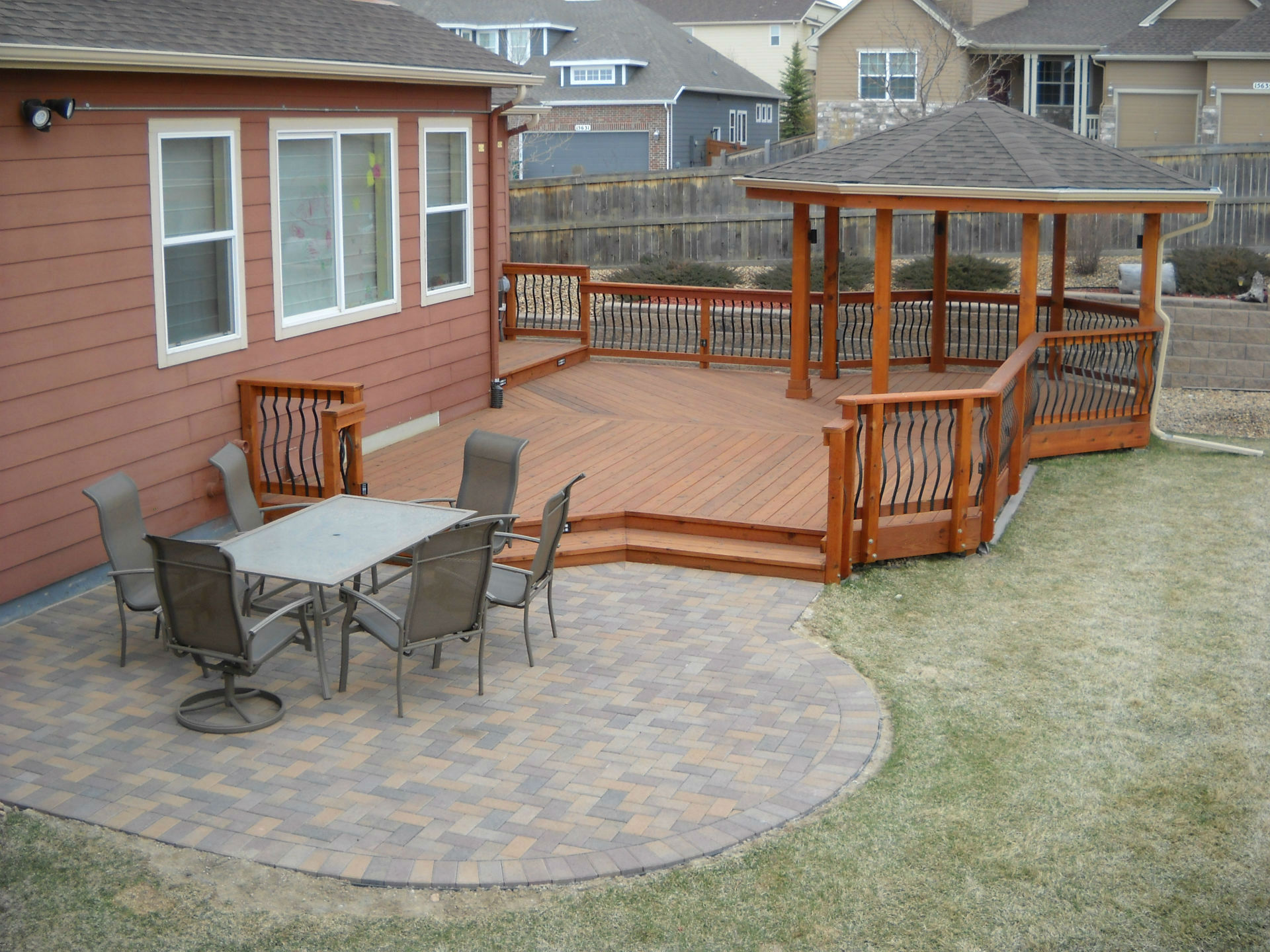 Deck & Patio Combinations - DeckTec Outdoor Designs on Wood Patio Ideas id=21962