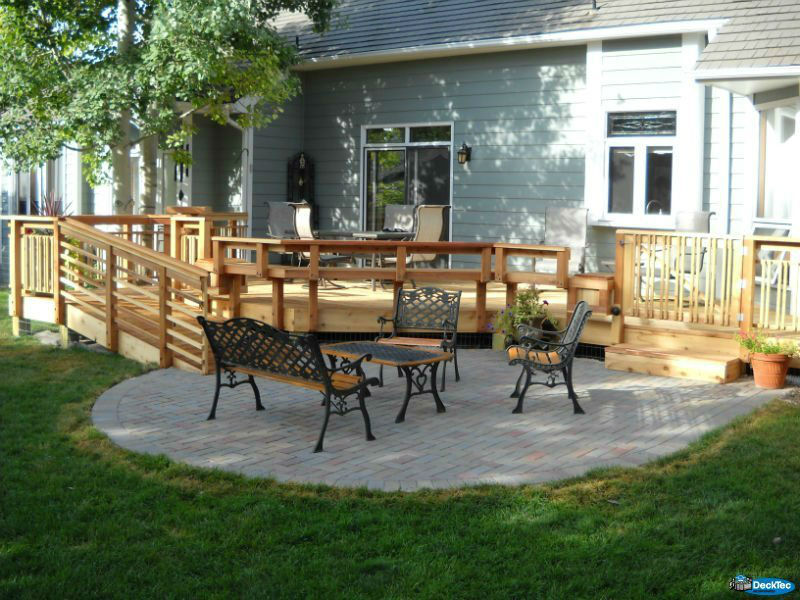 Deck & Patio Combinations - DeckTec Outdoor Designs on Patio With Deck Ideas id=36233