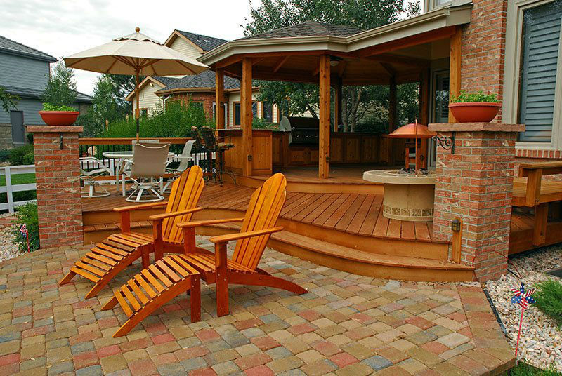 Deck & Patio Combinations - DeckTec Outdoor Designs on Patio With Deck Ideas id=76378