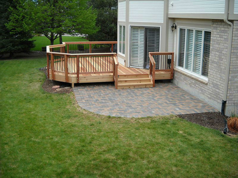 Deck & Patio Combinations - DeckTec Outdoor Designs on Patio With Deck Ideas id=14513