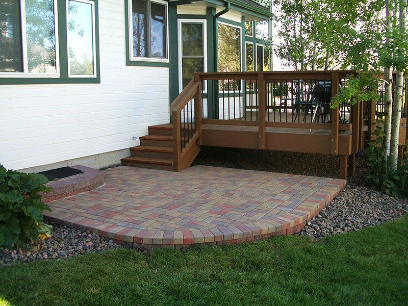 Deck & Patio Combinations - DeckTec Outdoor Designs on Wood Deck Ideas For Backyard id=92358