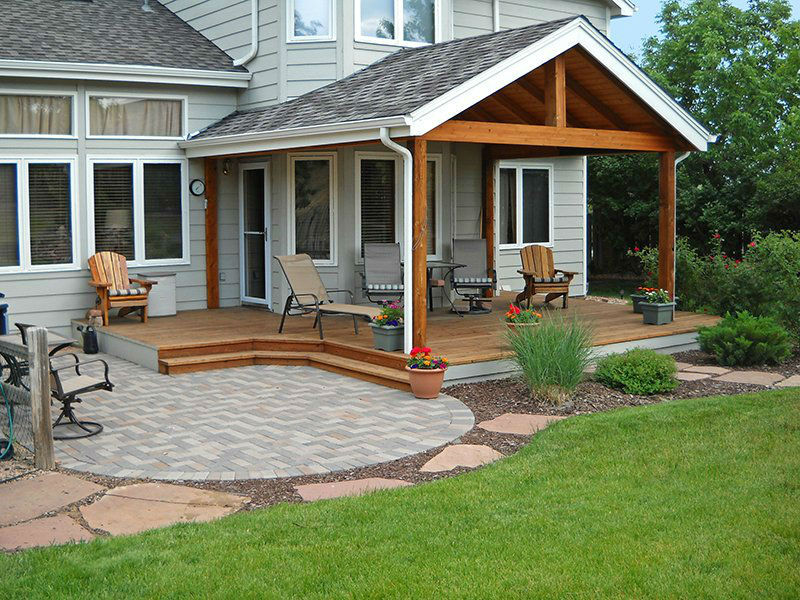 Deck & Patio Combinations - DeckTec Outdoor Designs on Patio With Deck Ideas id=29061